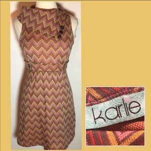 Karlie Chevron Dress